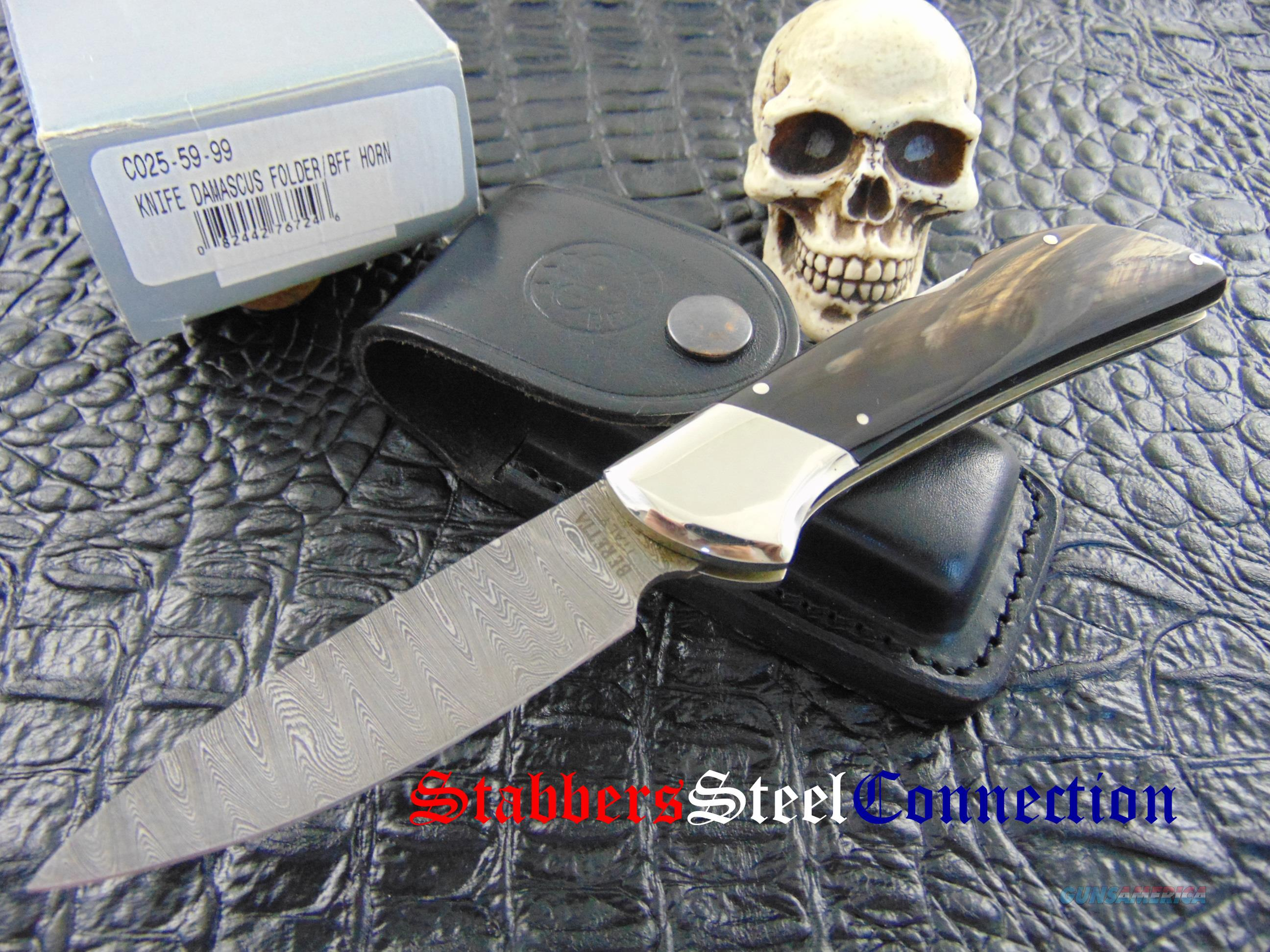 Beretta Knives Limited Run Damascus Buffalo Hor... for sale