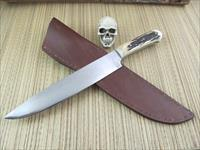 Colin Cox Jr Custom Handmade Huge Stag Bowie