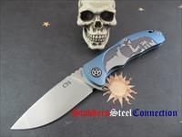 CH Knives Engraved Skull Knife