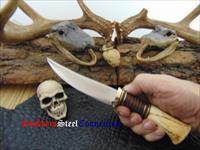 G.R. James of James Cutlery Custom Handmade Jim Bering Style Design Stag Hunter / Skinner