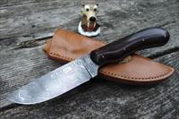 Bill Buxton JS / Journeyman Smith Gorgeous Damascus Hunter w/ Red Liners