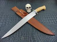 Mozolic Knives Huge 17 Inch Acacia Burl Re-Curve Fighter / Bowie