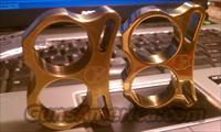 "**BENDER'S NEW 1/2"" Double Barrel II Polished - brushed Brass Two Finger Knuckles"