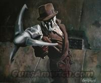 RORSCHACH AND HIS MAD* BLACK DIABLO SPIKED SKULL KNUCKLE *