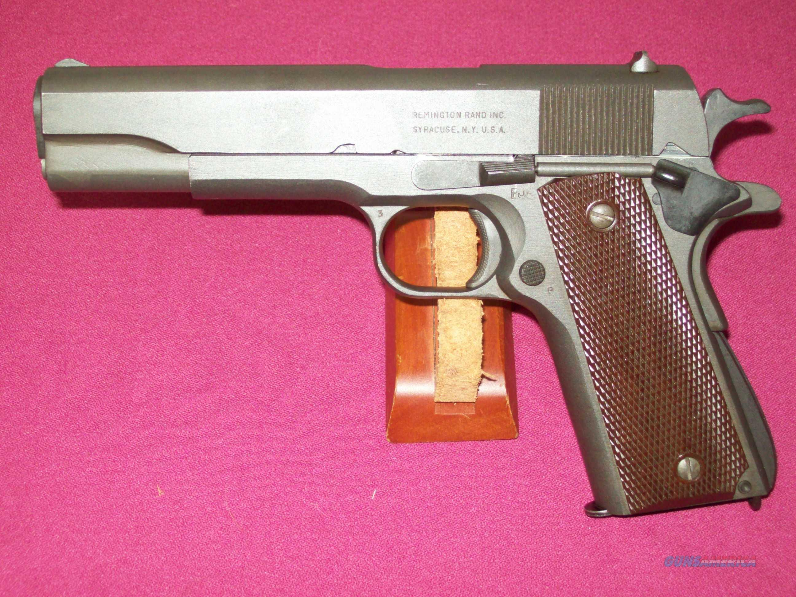 Remington Rand 1911-A1  45 serial number 2198817