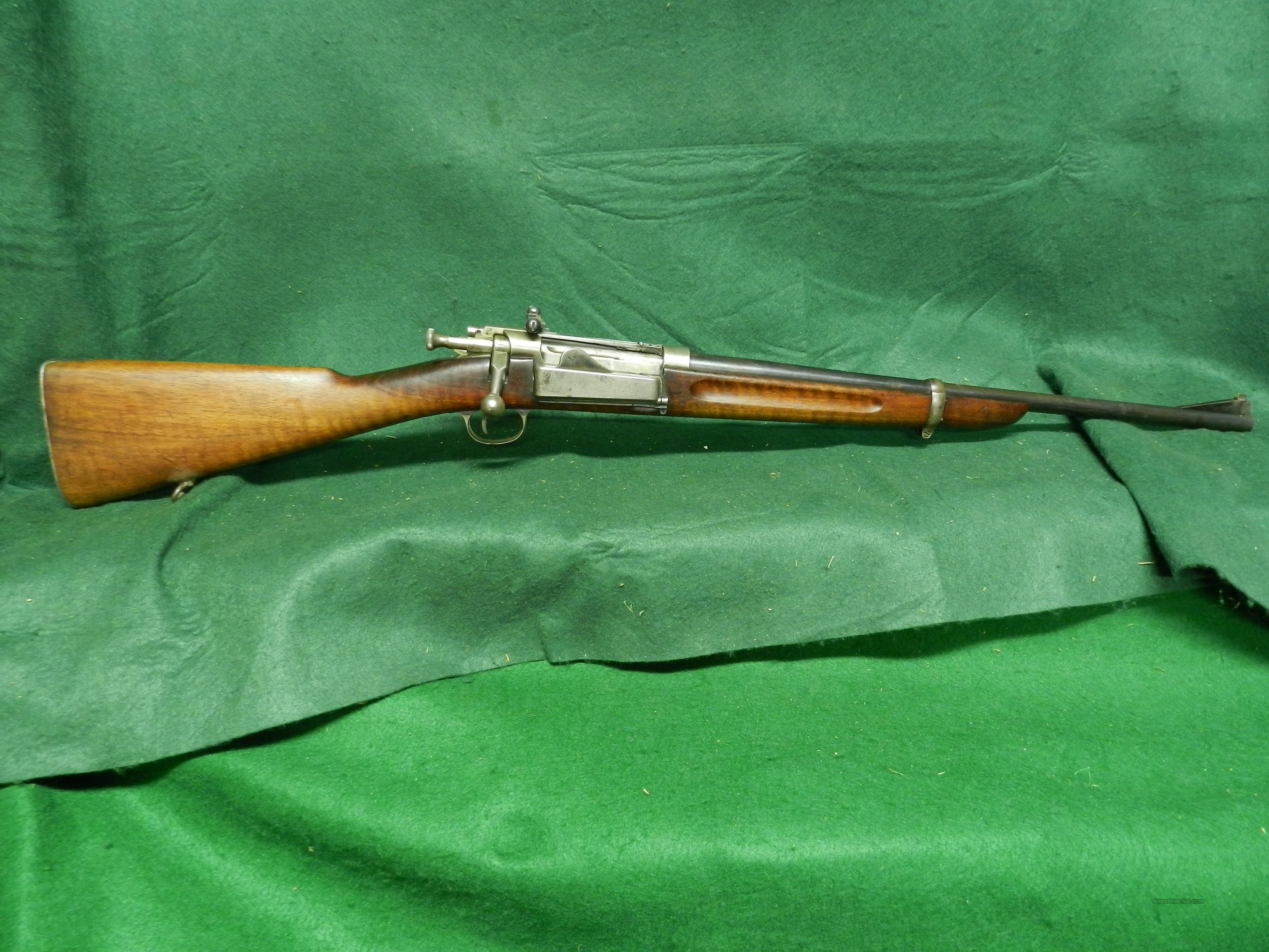 US Krag jorgensen model 1898 rifle complete 30-40 cal barrel with front sight mt