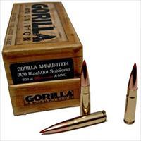 Gorilla 300 BlackOut, 208gr Hornady A-Max, Subsonic, 20 Round Box