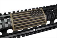 AR Grip PVC Custom Picatinny Rail Cover – Tan U.S. Flag, Stars Right