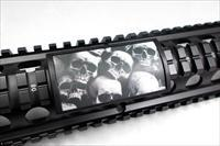 AR15/M4 Custom Picatinny Rail Cover – Skulls