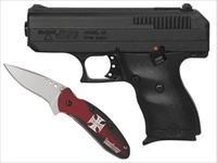 Hi-Point Compact 9MM Semi-Automatic Pistol with Hard Case & Kershaw Knife