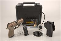 "Sig Sauer FDE P320 Compact .357 Sig 3.9"" 13+1 - New in Case"