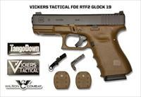 Limited Edition Vickers Tactical FDE RTF2 Glock 19 Pistol