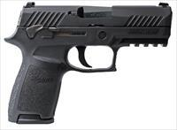 "Sig Sauer P320 Compact .45ACP 3.9"" 9+1, Night Sights/Manual Safety - New in Case"