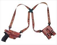 Galco MC224 Miami Classic Shoulder Holster System, Tan – Glock, Right Draw