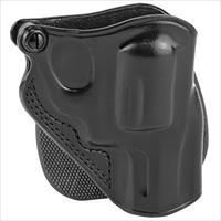 Galco SPD158B, Speed Paddle Holster, Fits J Frame, Right Hand, Black Leather
