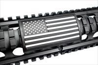 AR Grip PVC Custom Picatinny Rail Cover – U.S. Flag, Stars Left, Black and White