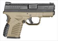 "Springfield XD-S 9mm 3.3"" 7+1/8+1 - Flat Dark Earth - New in Case"