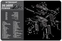 TEKMAT Armorers Bench Mat – Sig Sauer P238 and P938