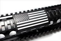 AR Custom Picatinny Rail Cover – United States Flag, Stars Left - Black Retainer
