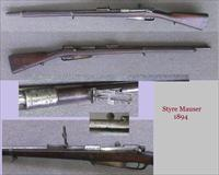 Antique 1894 Steyr Mauser Rifle - 8mm Bolt Action