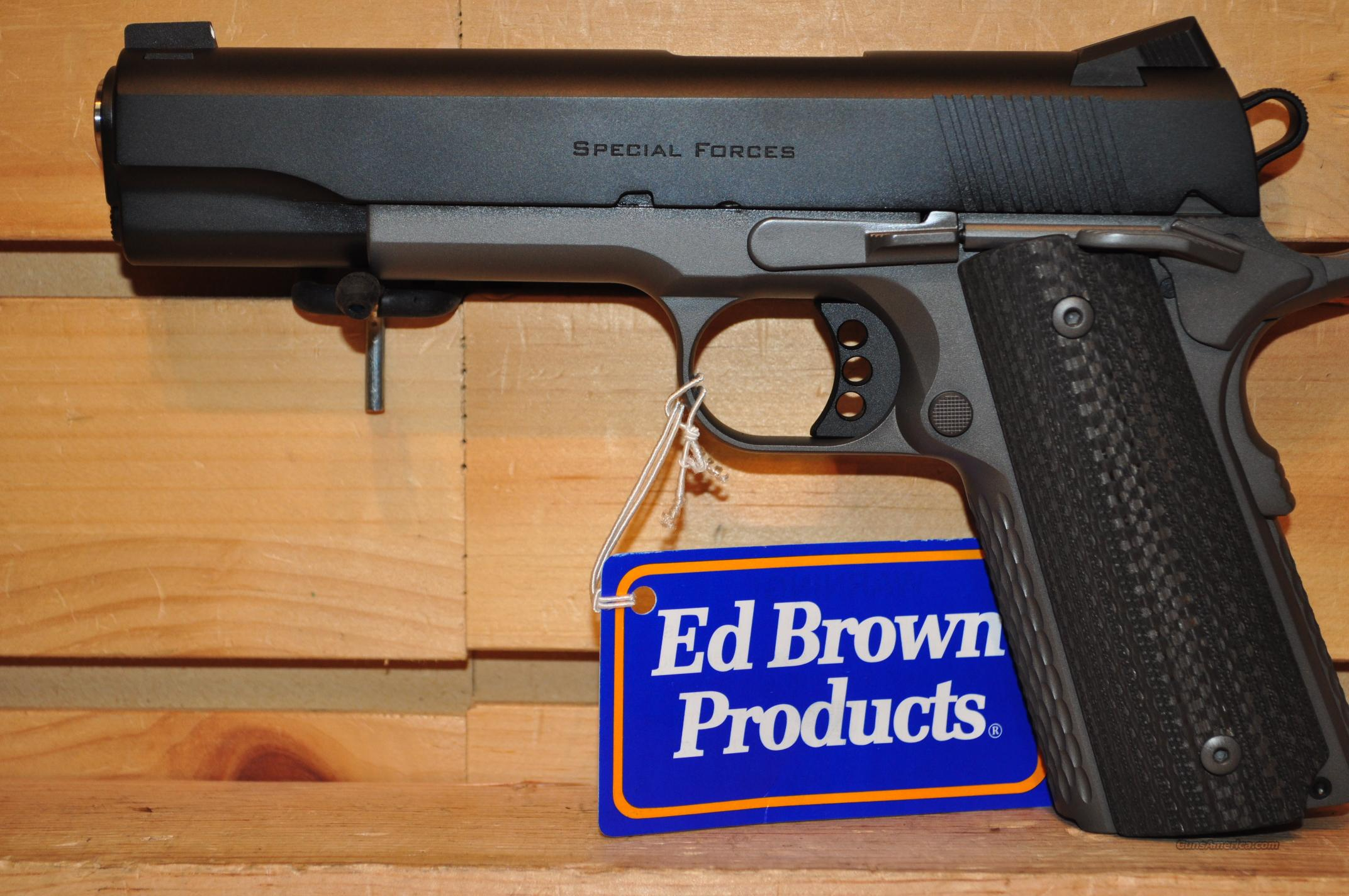Ed Brown Special Forces Stealth Gray w/Carbon Fiber Grips 3% NRA Discount  plus FREE SHIPPING