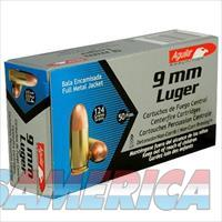 Aguila Centerfire Ammo 9mm Luger Full Metal Jacket, 124 Grain, 1115 fps, 50 Round Box