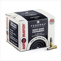AMMO FEDERAL 22LR AMMUNITION 40 GRAIN 325 ROUNDS AUTO MATCH AM22 AMMO