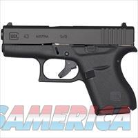 "GLOCK 43 Semi Automatic Pistol 9mm Luger 3.39"" Barrel 6 Rounds Fixed Sights Polymer Frame Black"