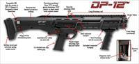 DP-12 DOUBLE BARREL PUMP SHOTGUN BLACK FROM STANDARD MANUFACTURING / CONNECTICUT SHOTGUN