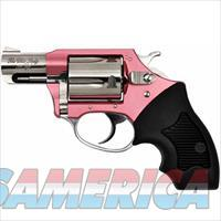 "Charter Arms Chic Lady Revolver .38 Special 2"" Barrel 5 Rounds Black Synthetic Grips Pink Aluminum Frame Polished Stainless Finish"