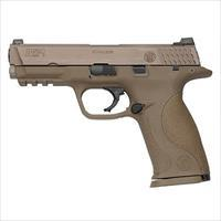 "S&W Model M&P9 VTAC Viking Tactics Semi Auto Handgun 9mm Luger 4.25"" Barrel 17 Rounds VTAC Warrior Sights Polymer Frame Flat Dark Earth Finish"