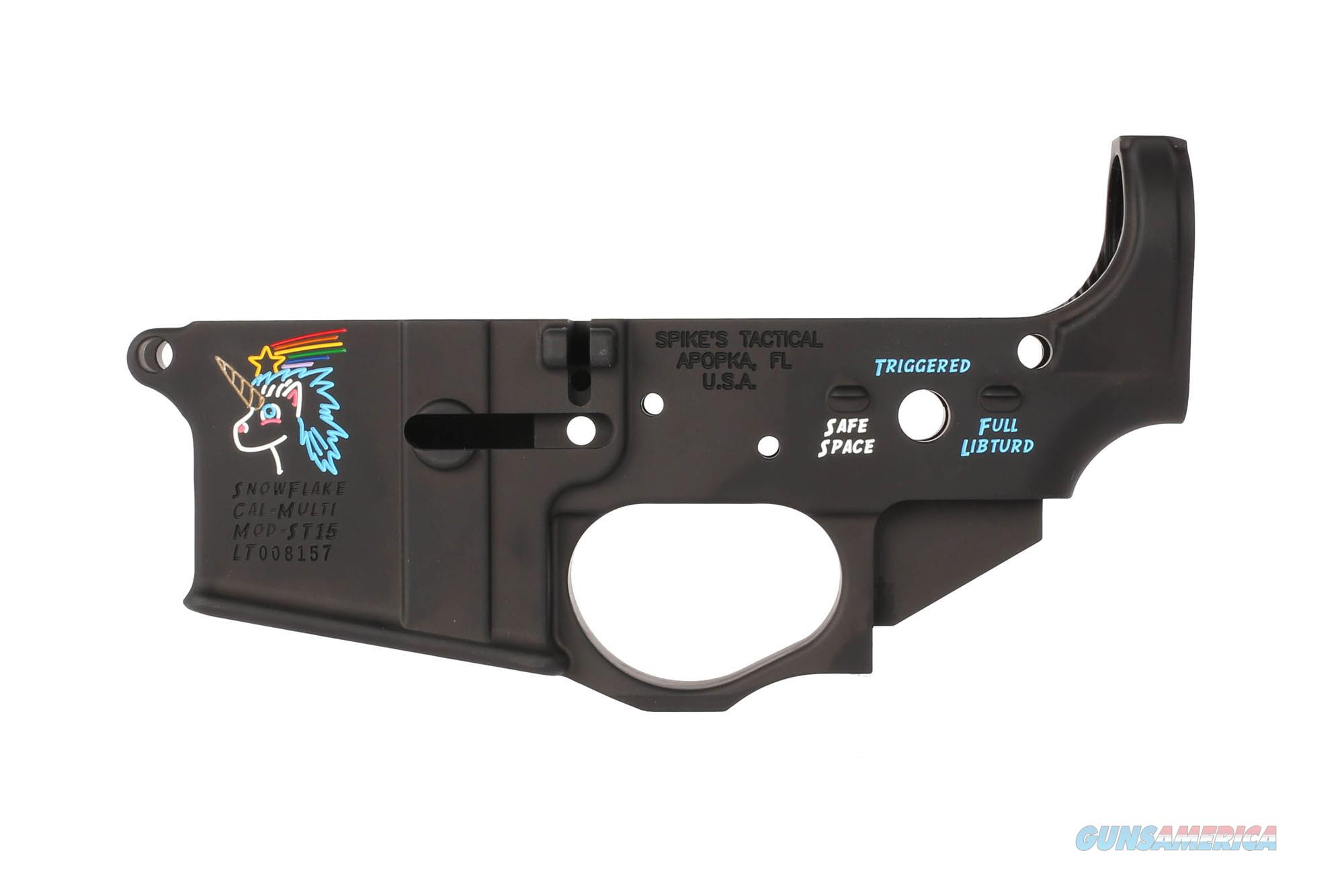 SPIKES TACTICAL SNOWFLAKE STLS030-CFA COLOR FILLED LOWER RECIVER