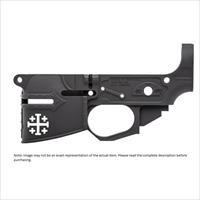 Spike's Tactical Rare Breed Crusader AR-15 Stripped Lower Receiver Multi Caliber Marked Aluminum Black