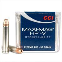 CCI Rimfire Ammo Varmint Maxi Mag HP +V 22 Win Mag Jacketed Hollow Point 30 Grain 50 Rounds