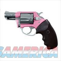 "Charter Arms Pink Lady Undercover Lite DoubleAction Revolver .38 Special +P 2"" Barrel 5 Rounds Rubber Grips 2Tone Pink and Stainless Finish"