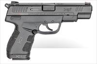 "Springfield Armory XDE9459B XD-E 9mm Luger 4.50"" 9+1 8+1 Black Enhanced Textured Black Polymer Grip"