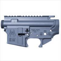 Spikes Tactical AR-15 Upper and Lower Stripped Receiver Set Aluminum Grey