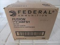 308 Win Fusion Federal 150gr CASE: 200 Rounds