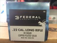 1000rounds FEDERAL .22LR (710) CPRN 40GR