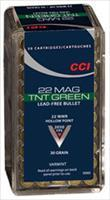 500rds CCI-060 22 WIN MAG HP-TNT GREEN 30gr