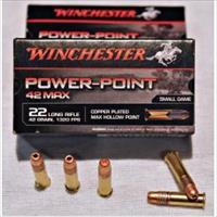 1500rds WIN. Power Point 42 Max 22LR 42gr 22