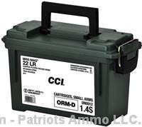 1600rds CCI 36gr MINI Mags 0031- HP with ammo can