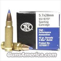 FNH USA 5.7x28mm Hornady V-MAX 40gr (250) Rounds