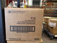 5000rds Federal 712 .22 LR 36gr HP plated 22