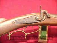 "C104 HE LEMAN LANCASTER PA, PERCUSSION INDIAN TRADE RIFLE 36"" 45 CAL"