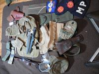 WWII group of accessories to include Model 1 Bayonet