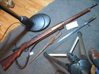 Japanese Type 38 Arisaka with matching bolt, correct bayonet and good repro sling