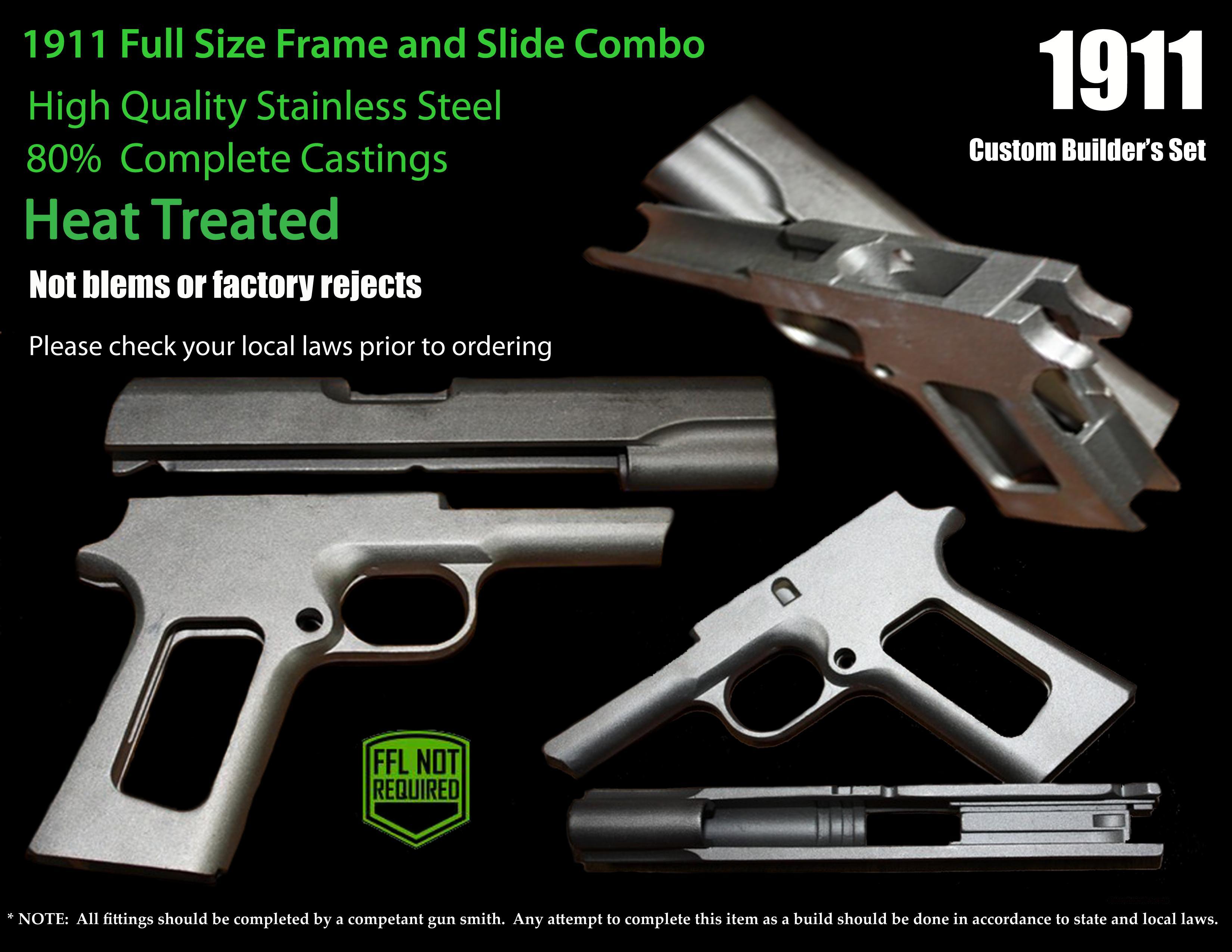 1911 80% Casting combo Frame & Slide for sale