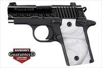 "Sig P238 White Pearl Microcompact 380ACP 2.7"" 6rds NS"