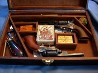 REDUCED  Cased Uberti Double revolver Set  SOLD!!!